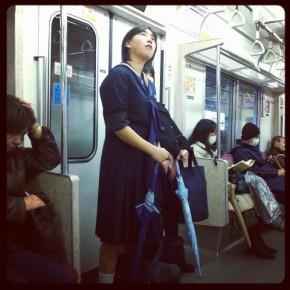 Schoolgirl in Tokyo.